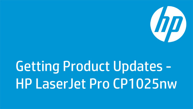Getting Product Updates - HP Color Laserjet CP1025nw