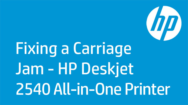 Fixing a Carriage Jam - HP Deskjet 2540 All-in-One Printer