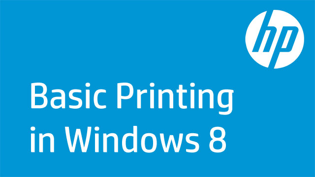 Basic Printing in Windows 8