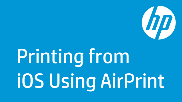 Printing from iOS Using AirPrint