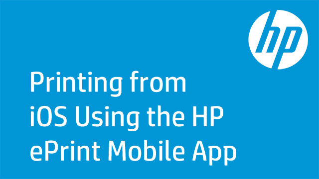 Printing from iOS Using the HP ePrint Mobile App