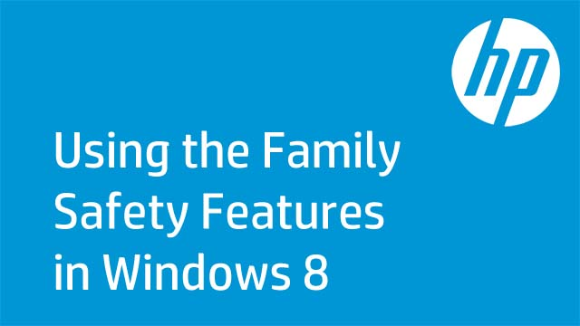 Using the Family Safety Features in Windows 8