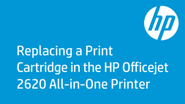Replacing a Print Cartridge in the HP Officejet 2620 All-in-One Printer