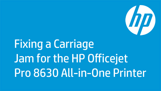 Fixing a Carriage Jam for the HP Officejet Pro 8630 All-in-One Printer