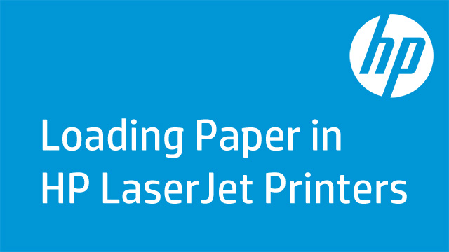 Loading Paper in HP LaserJet Printers