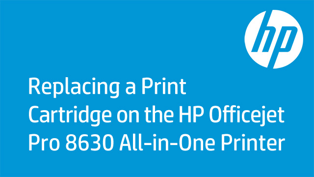 Replacing a Print Cartridge on the HP Officejet Pro 8630 All-in-One Printer