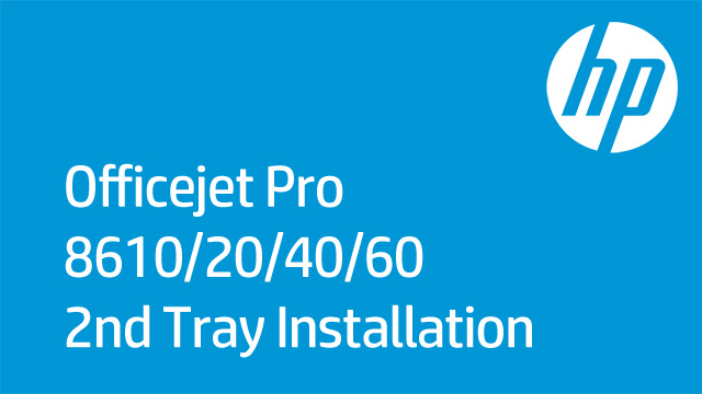 Installing the 2nd tray on the HP Officejet Pro Printers