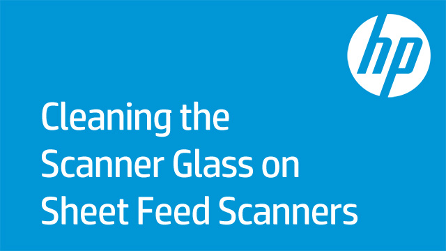 Cleaning the Scanner Glass on Sheet Feed Scanners