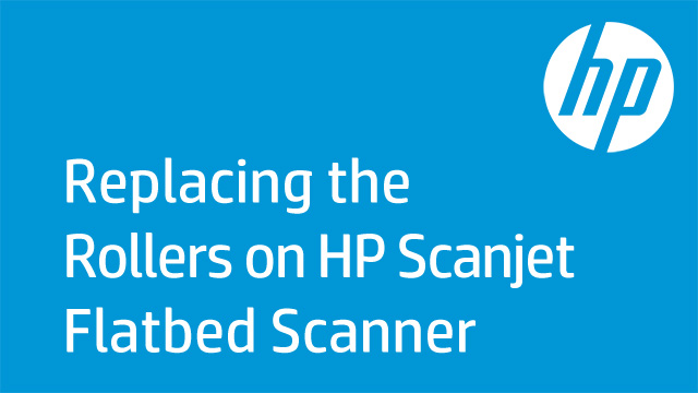 Replacing the Rollers on HP Scanjet Flatbed Scanner