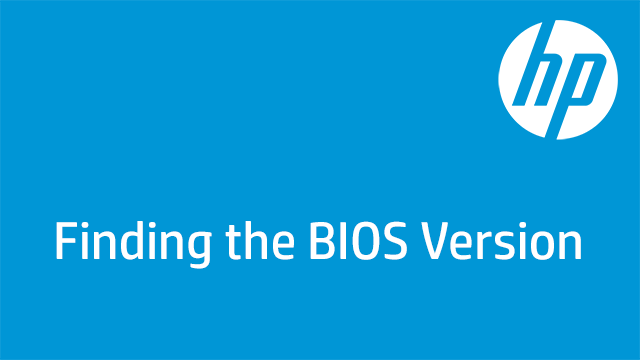 Finding the BIOS Version