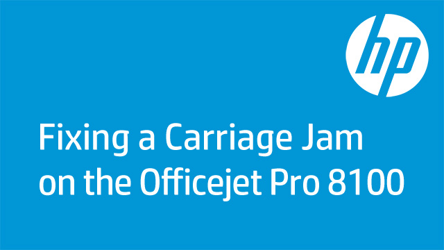 Fixing a Carriage Jam on the Officejet P