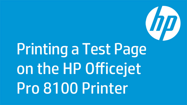 Printing a Test Page on the HP Officejet Pro