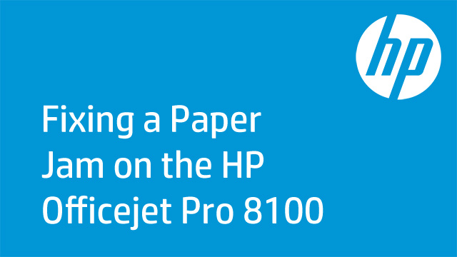 Fixing a Paper Jam on the HP Officejet Pro 8100