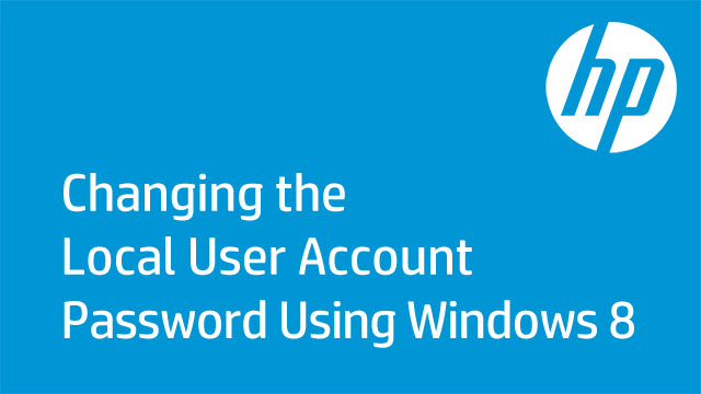 Changing the Local Windows 8 User Account Password from an Administrator Account