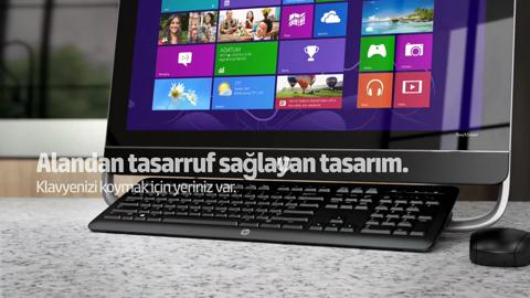 HP ENVY 23-d000 TouchSmart All-in-One video demo - Turkish