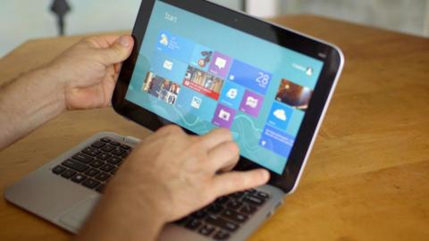 Michael tests the HP ENVY x2 Notebook PC with Windows 8