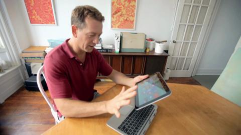 Michael tests the HP ENVY x2 Notebook PC with Windows 8 (15sec video)