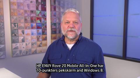 HP ENVY Rove 20 Mobile All-In-One training video - Swedish