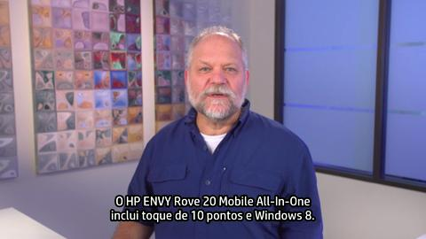 HP ENVY Rove 20 Mobile All-In-One training video - Portuguese