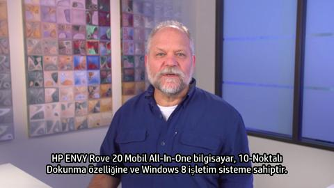 HP ENVY Rove 20 Mobile All-In-One training video - Turkish