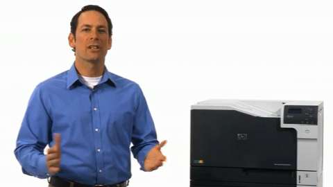 Easily navigate printer functions (HP Color LaserJet Enterprise M750)