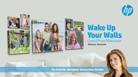 HP Wake Up Your Walls Sweepstakes with Genevieve Gorder