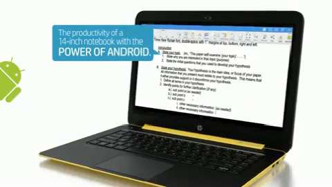HP SlateBook 14 video demo