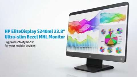 HP EliteDisplay S240ml Ultra-slim Bezel MHL Monitor