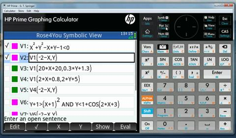Graphing a Rose with the HP Prime Graphing Calculator