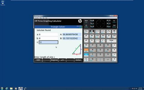 HP Prime Graphing Calculator - Solver and Explorer Apps