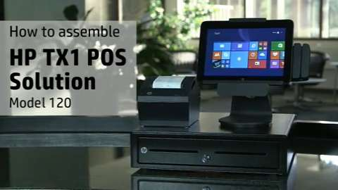 HP TX1 POS Solution, Model 120 How to Assemble