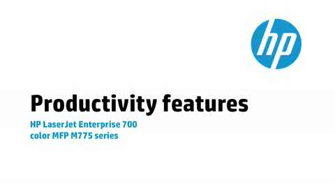 4 - Productivity features