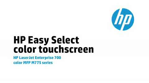 6 - HP Easy Select color touchscreen