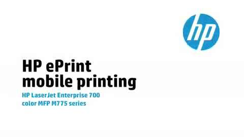 9 - HP ePrint mobile printing