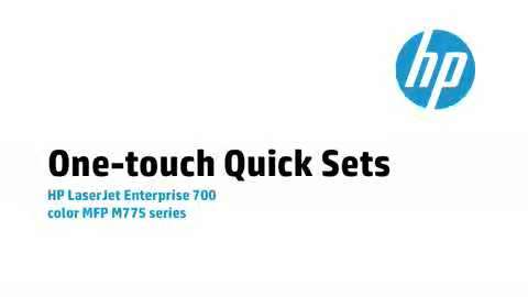 14 - One-touch Quick Sets
