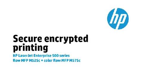 12 - M575c/M525c: Secure encrypted printing 