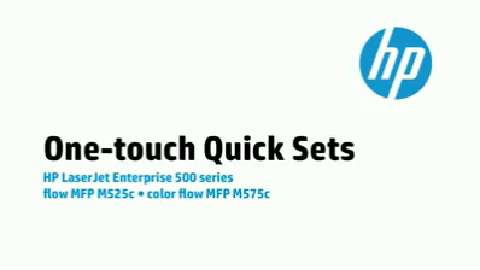 14 - M575c/M525c: One-touch Quick Sets