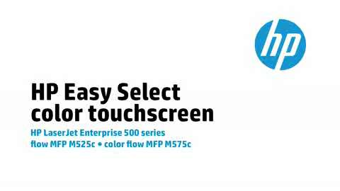 6 - M575c/M525c: HP Easy Select color touchscreen