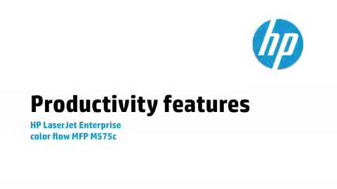 3a - M575c: Productivity features