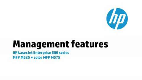 9 - M575/M525: Management features