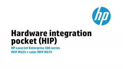 7 - M575/M525: Hardware Integration Pocket (HIP)