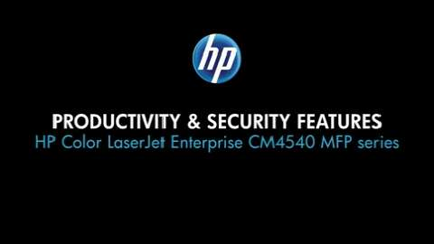 2 - Productivity and security features (CM4540 MFP)