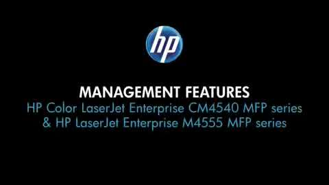 11 - Management features (CM4540 and M4555 MFPs)