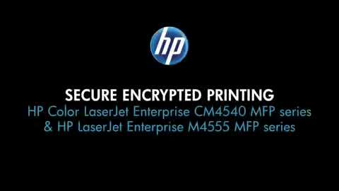 14 - Secure Encrypted Printing (CM4540 and M4555 MFPs)