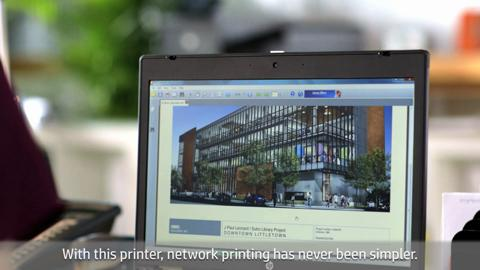 HP Officejet Pro X551dw Printer video demo - English