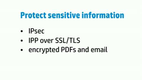 Safeguard your device (HP LaserJet Enterprise flow M830)