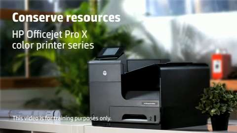 HP Officejet ProX SFP Conserve Training Video