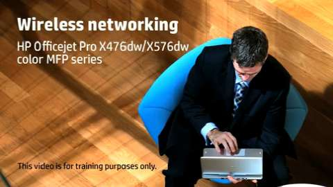 HP Officejet ProX MFP Wireless Features Training Video