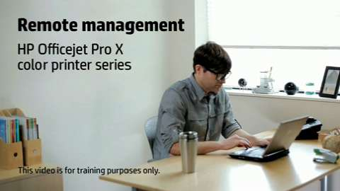HP Officejet ProX SFP Remote Management Training Video