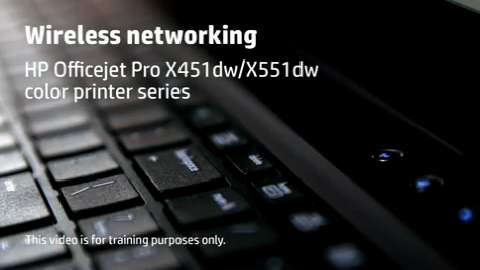 HP Officejet ProX SFP Wireless Training Video
